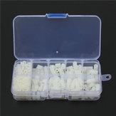Suleve ™ M3NH9 M3 Nylon Parafuso Porca de Parafuso Hexagonal Branco Nylon Conjunto de Variedade de Compensação de PCB 300 pcs