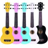 Enya KAKA 21 Inch Colorful Ukulele acústico Uke 4 cordas Hawaii Guitarra Guitarra Musica Instrumento para crianças e iniciantes em música
