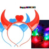 Halloween Costumes Devil Horns LED Lanterna Colorful Wedding Party Decor Supplies