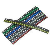 2000 Pz 5 colori 400 cad. 1206 LED Kit diodi SMD LED Kit diodi verde / ROSSO / Bianco / Blu / Giallo