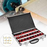 35pcs 1/4 Pollici Set di punte per router Shank 6,35mm TCT in carburo di tungsteno con punta per la lavorazione del legno