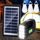 Portable Solar Generator System Emergency Light Outdoor Camping 3PCS Light Bulb