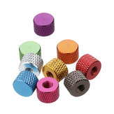 Suleve™ M4AN5 10Pcs M4 Blind Hole Thread Aluminum Alloy Knurled Thumb Nut Hand-Tight Screw Nut Multi-Color