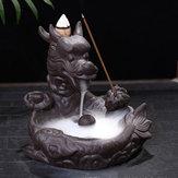 Держатель горелки башни обратного потока рыбы-дракона Керамический с декором ладана конуса 10Pcs