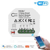 MoesHouse Mini DIY WiFi Smart Light Switch 3 Gang 1/2 Way Module Smart Life/Tuya App Control for Amazon Alexa and Google Home
