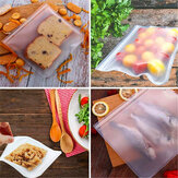 Reusable Translucent Frosted PEVA Food Storage Bag for Sandwich Snack Lunch Fruit Kitchen Storage Container