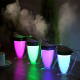 Loskii LH261 Luminous Cup Humidifier Drop Ultrasonic Cool Mist Humidifier Ultrasonic Travel Humidifier