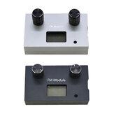 DSP&PLLデジタルステレオFMラジオレシーバーモジュール87-108MHzのアルミ合金金属ケース