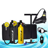 DCCMS DS-810 8pcs/set 1L Portable Diving Scuba Tank Divers Spare Oxygen Equipment Leisure Diving Mini Oxygen Tank