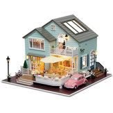 CuteRoom A-035-A Queens Town DIY Dollhouse Modelo em miniatura com Light Music Collection Gift