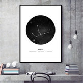 30x40cm Constellation Art Canvas Posters Geometric Astrology Painting Wall Paper