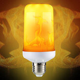 E27 4 طرق SMD2835 LED لهب تأثير الخفقان مضاهاة النار ضوء لمبة الديكور مصباح ac85-265v