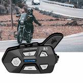 WAYXIN R5 2 pièces interphone bluetooth 2 cavalier FM moto bluetooth casque interphone 1000M MOTO interphone casque casques