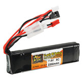 ZOP Power 7.4V 2200mAh 8C 2S Lipo Bateria JR JST FUBEBA Plug for Transmitter