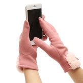 Rękawice zimowe damskie z ekranem dotykowym Ciepłe rękawiczki z odkrytą rękawicą jazdy na smartfony