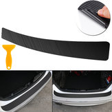 Carbon Fiber Sticker Vinyl Decal Car Tail Trunk Sill Plate Bumper Guard Protector Cover Trim