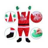Decoração de Natal do Papai Noel Pingente com roupas de Papai Noel grande e decoração de carro janela de Natal feliz ano novo