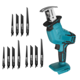 18V Cordless Electric Reciprocating Saw Variable Speed Metal Wood Cutting Tool Saber Saw W/ 12X Blades For Makita 18V Battery