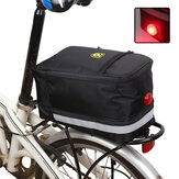 4.5L Oxford Cloth Bicycle Rear Seat Bag With Lights Cycling Bike Rear Rack Trunk Pannier Luggage Carrier Bag