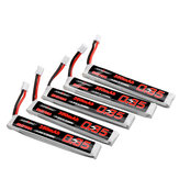 5Pcs URUAV 3.8V 350mAh 50/100C 1S Lipo Battery PH2.0 Plug for RC Racing Drone