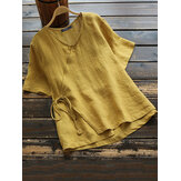 Damska bawełniana bluzka z dekoltem w szpic