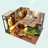 Multi-style 3D Wooden DIY Assembly Mini Doll House Miniature with Furniture Educational Toys for Kids Gift