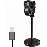 HXSJ F13 Computer Live Microphone 360° Sound Pickup Adjustable Angle USB interface Voice Video Chat Microphone for Conference Lecture Game Live Broadcast
