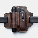 Mannen echt leer Retro Mini Easy Carry Multitool Organizer Gear Bag Belt Bag Heuptas met riemlus