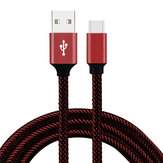 Bakeey 2.4A Type C Braided Fast Charging Cable 1m For Oneplus 5t 6 Mi A1 Mix 2 S8 Note 8