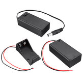 9V-6F22 Battery Charging Box Fully Sealed Battery Holder Case with Switch for 9V Battery