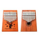 17-Key Kalimbas Wooden Finger Thumb Piano Mbira Education Musical Instrument Toy