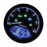 12000RPM Motorcycle LCD Digital Speedometer Tachometer Odometer Cafe Racer Motor