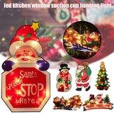 Santa Claus LED Ventouse Fenêtre Suspendue Lumière De Noël Atmosphère Scène Festival Lampe Décorative