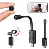 Xiaovv 1080P WIFI AP USB Mini câmera IP 140 ° Wide Range AI Detecção de corpo humano V380 Pro 128G SD Card Cloud Storage CCTV para câmera de vigilância doméstica segura