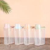 Bakeey PP Voedsel Opbergdoos Plastic Doorzichtige Container Set met Gietdeksels Keuken Opslag Flessen Potten Gedroogde Granen Tank