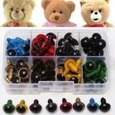 80Pcs 12mm 8Colors Plastic Safety Eyes Washers Kids Teddy Bear Doll Animal Toys Handmade Craft Tool