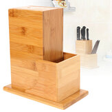 Universal Bamboo Cutter Utensil Holder Block Storage Rack Kitchen Organizer Tools