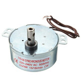 2Pcs AC 220-240V Turntable Synchronous Motor 15/18r/min 3.5/3W CW