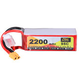 ZOP Power 14.8V 2200mAh 95C 4S Lipo Batterie XT60 Plug pour RC Racing Drone