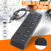 DM-HB92 Hub USB Multi 3.0 Hub USB Splitter High Speed 7 Port All In One For PC Windows Macbook Computer Accessories
