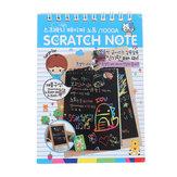 DIY Doodling Drawing Magic Scratch 12 páginas Pintura Notebook para Crianças Crianças Brinquedos Educativos Papelaria Pintura Presente
