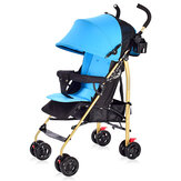 Folding Baby Stroller 100-175° Adjustable Anti-UV Panel Canopy 4-wheels Kids Pushchair for 0-3 Years Old