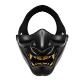 WoSporT Mezza faccia motocicletta Maschera Goblin CS Halloween Christmas Party Outdoor Sport