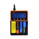 BORUiT C4 4 Slot Universal 18650 LCD Display AA AAA Li ion recarregável Bateria Carregador digital