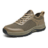 Men Mesh Breathable Non-slip Soft Outdoor Hiking Shoes