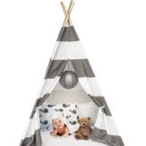130cm/160cm Kids Portable Play Tents Teepee Tipi Play House Children Baby Cotton Canvas Indian Pretend Playhouse Boys&Girls Gifts