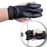 Taktickálukostřelba3prstySleevePU Recurve Bow Tradiční luk Finger Guard Lovecký chránič