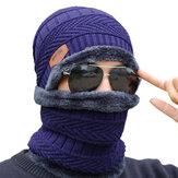 Chapeau en molleton de plein air équitation ski coupe-vent casquettes de tricotage Cyclisme en cours d'exécution sport masque sport écharpe chaude
