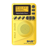 DAB + FM digitale 174-240MHz Radio LCD Display Altoparlante per scheda SD Altoparlante per lettore MP3