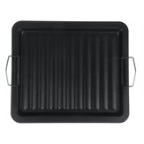 BBQ Grill Pan Steel Plate Non Stick Griddle Plate Cooking Frying Skillet